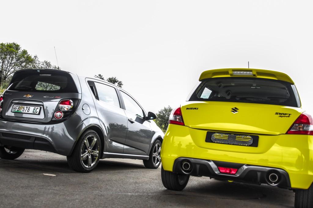 Chevrolet Sonic RS, Suzuki Swift Sport, Shootout