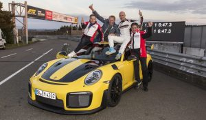 Porsche 911 GT2 RS smashes Nurburgring record (Video)