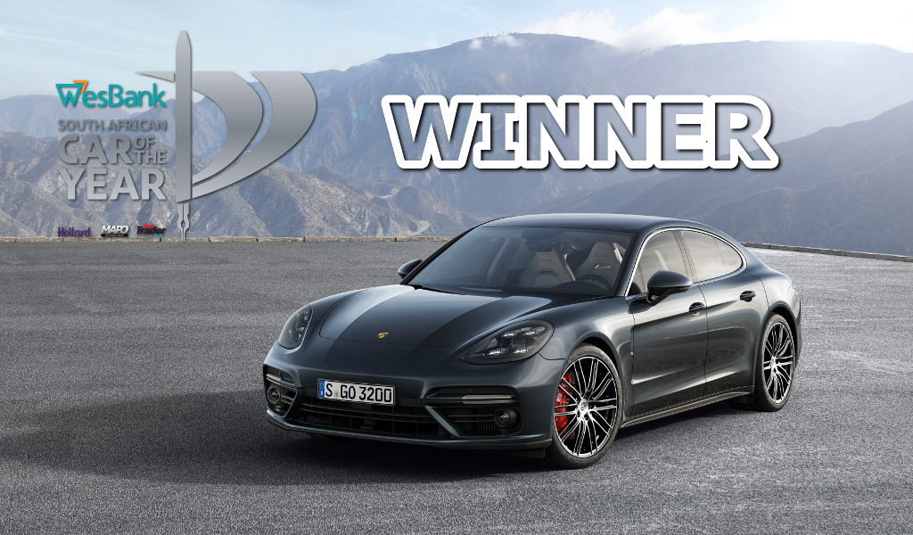 Porsche Panamera, SA COTY, Car of the Year, WesBank, SAGMJ, 2018 COTY
